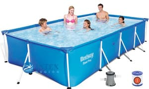 Каркасный бассейн Bestway 56424 400х211х81 Steel Pro