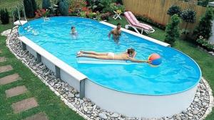 Сборный бассейн Summer Fun 4501010160KB овальный 500х300х150 см