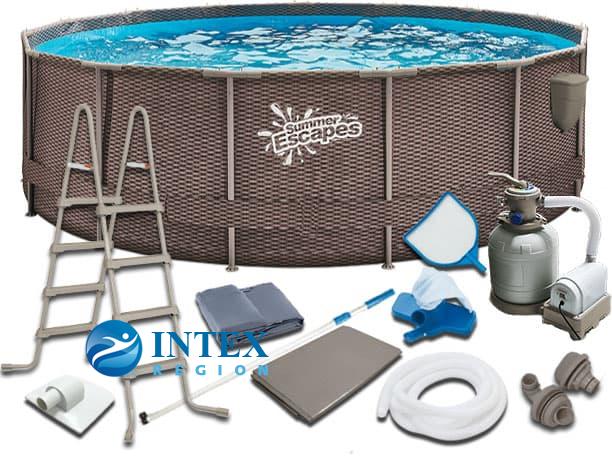 Каркасный бассейн SummerEscapes Р20-1248-S 366х122 Metal Frame