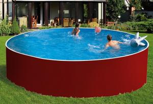 Сборный бассейн ЛАГУНА 54916 круглый 549х125 см (красный)