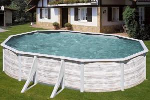 Каркасный бассейн GRE PR508NMAG овальный 500x300x132 см